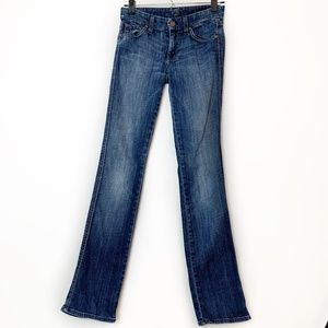 7 For All Mankind Bootcut Sequin High Rise Jeans